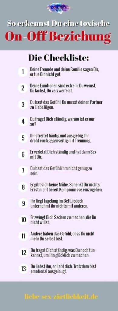 Checkliste Toxische Beziehung